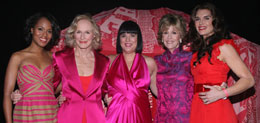 Kerry Washington, Glenn Close, Eve Ensler, Jane Fonda, Brooke Shields, V to the 10th Celebration V-Day