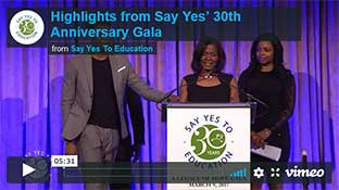 Say Yes To Education 30th Aniversary Gala